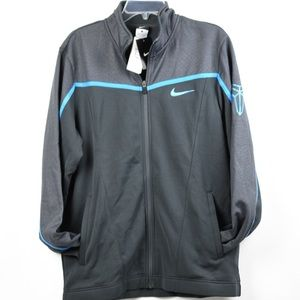 NWT Nike Dark Gray with Blue Track Jacket